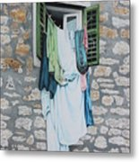 Clotheslines In Dobrovnik Metal Print