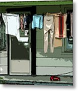 Cloths Line Metal Print