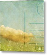 Cloud And Sky On Postcard Metal Print