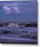 Cloud And Wave Seaside New Jersey Metal Print
