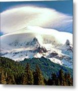 Cloud Capped Mount Hood Metal Print