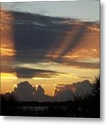 Cloud Cast Glory Metal Print