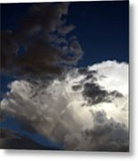 Cloud Collide Metal Print
