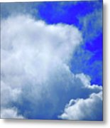 Cloud Commotion Metal Print
