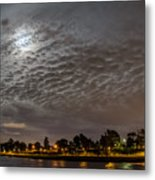 Cloud Covered Moon Metal Print