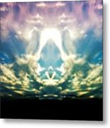 Cloud Face Color Metal Print