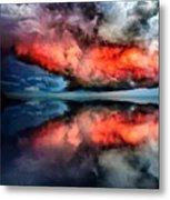 Cloud Fantasia Reflected L A S Metal Print