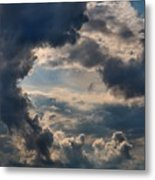 Cloud Formations Boiling Up Metal Print