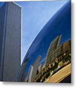 Cloud Gate And Aon Center Metal Print