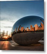 Cloud Gate At Sunrise Metal Print