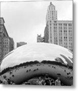 Cloud Gate Chicago Bw 3 Metal Print