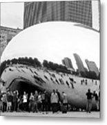 Cloud Gate Chicago Bw 4 Metal Print