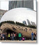 Cloud Gate Chicago Color 4 Metal Print