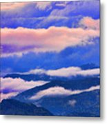 Cloud Layers At Sunset Metal Print