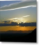 Cloud Line Metal Print
