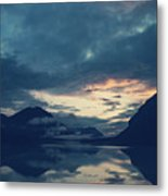 Cloud Mountain Reflection Metal Print