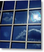 Cloud Reflection Metal Print