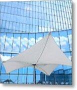 Cloud Reflections - Revel Hotel Metal Print