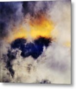 Cloud Sculping Metal Print