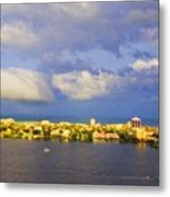 Cloud Shelf  Metal Print