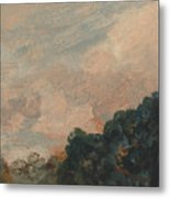 Cloud Study With Trees Metal Print