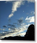 Cloud Sweep And Silhouette Metal Print