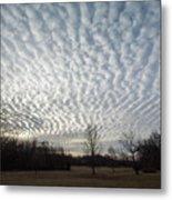 Cloud Symmetry Metal Print