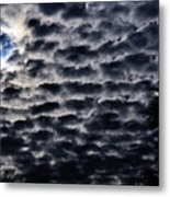 Cloud Tiles Metal Print