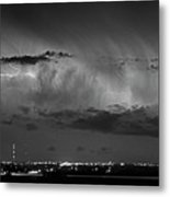 Cloud To Cloud Lightning Boulder County Colorado Bw Metal Print