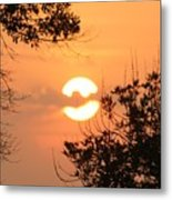 Clouded Over Sunset Metal Print