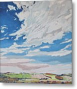 Clouded Sky On The Valley Metal Print
