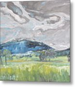 Clouded Sky Over Woburn Quebec Canada Metal Print