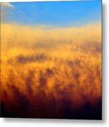 Clouds Ablaze Metal Print