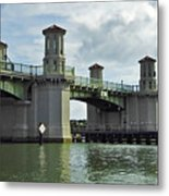 Clouds Above The Bridge Of Lions Metal Print