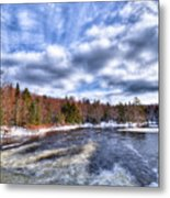 Clouds Above The Lock And Dam Metal Print