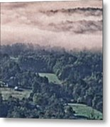 Clouds Above The Valley Panoramic Metal Print