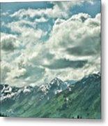 Clouds Alaska Mtns  Metal Print