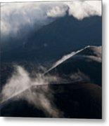 Clouds And Cinder Cones Metal Print