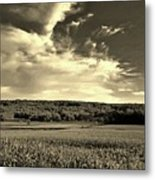 Clouds And Cornfields Metal Print