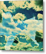 Clouds And Nyc Metal Print