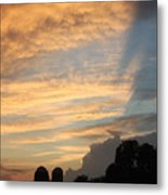 Clouds And Silos  Metal Print
