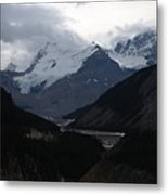 Clouds And Snow In The Mountains Metal Print
