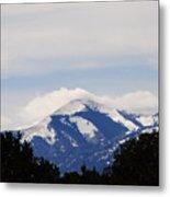 Clouds And Snow On Sierra Blanca Metal Print