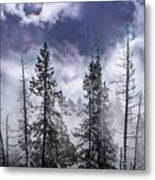 Clouds And Snow Swirling Metal Print