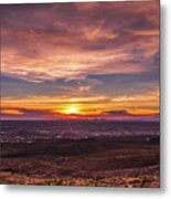 Clouds And Sunset Metal Print