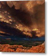 Clouds And Thunderstorm Bryce Canyon National Park  Metal Print