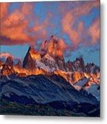 Clouds Around Fitz Roy - Patagonia Metal Print