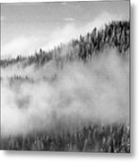 Clouds At The Ridge  Metal Print