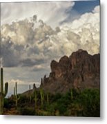 Clouds Bubbling Over The Superstitions  Metal Print