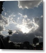 Clouds Buildup Metal Print